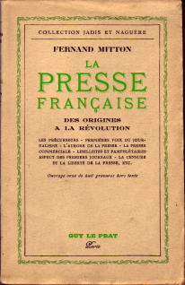 > La presse française, tome 1