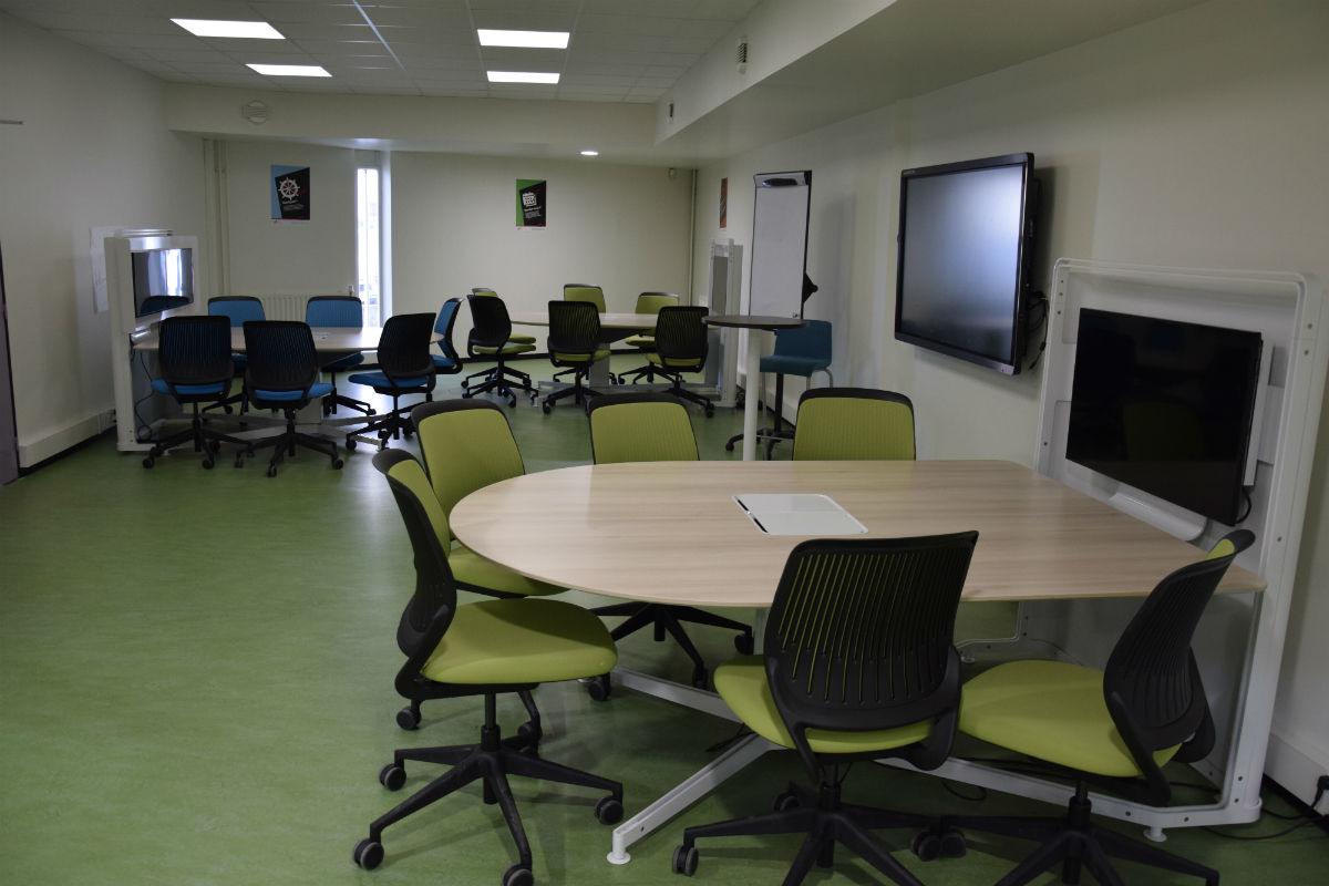 Salle d'innovation pédagogique de la BU du Campus Centre