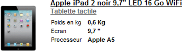 IPad 2 WIFI 16GO