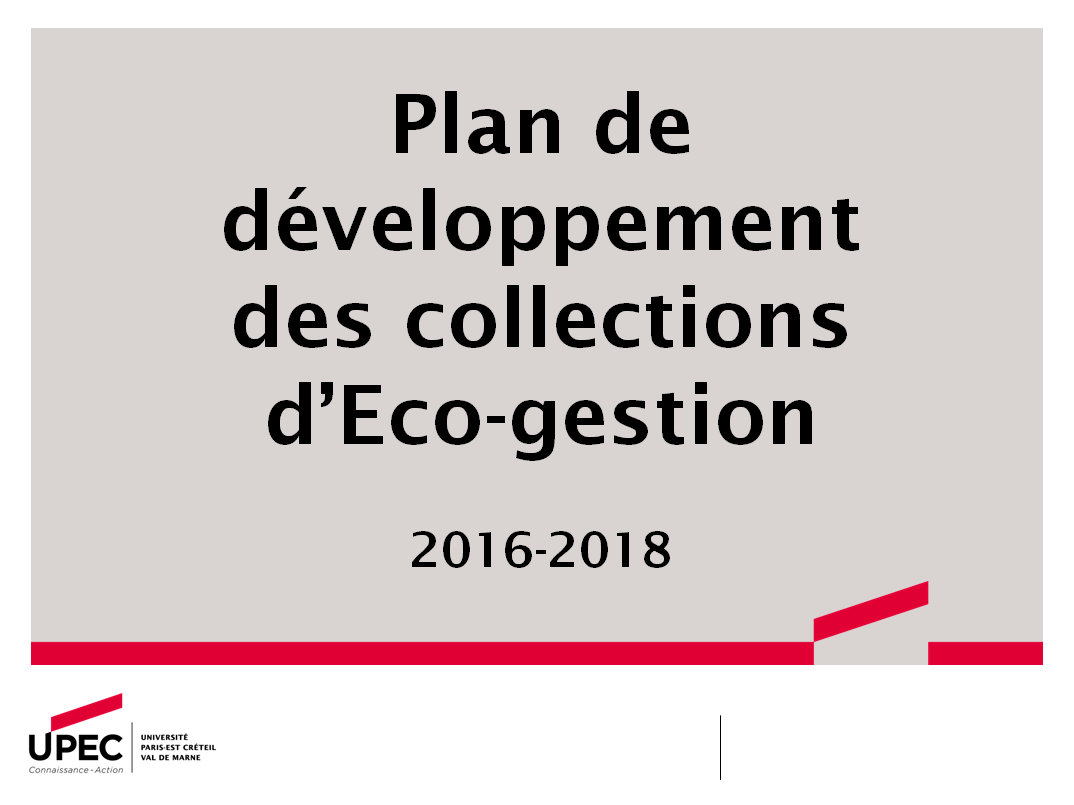 PDC Eco-gestion 2016-2018