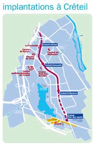 plan d'implantation à Créteil