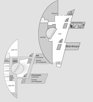 Plan du site de Fontainebleau